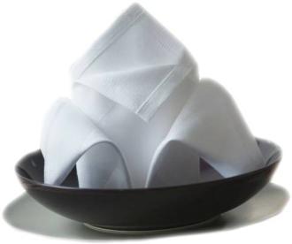 Bankietówka Marek 1 - 100% bawełna - 190 g/m2 - kolor biały i ecru